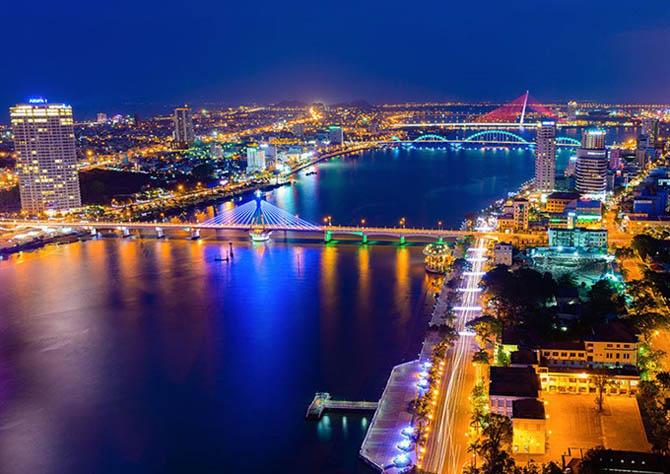 Thành phố Đà Nẵng về đêm đẹp tuyệt